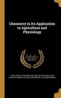 CHEMISTRY IN ITS APPLICATION T