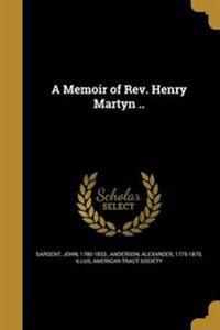 MEMOIR OF REV HENRY MARTYN