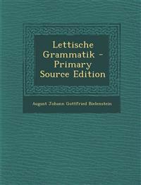 Lettische Grammatik