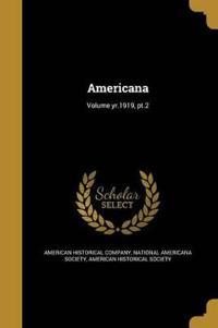AMERICANA VOLUME YR1919 PT2
