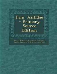 Fam. Asilidae - Primary Source Edition