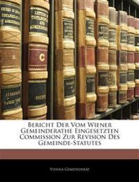 Vorlagen Zur Der Wiener Gemeindeordnung Vom Maarz 1850