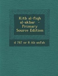 Kitb al-fiqh al-akbar