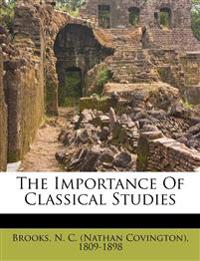 The importance of classical studies