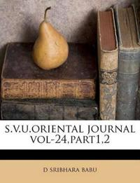 s.v.u.oriental journal vol-24,part1,2