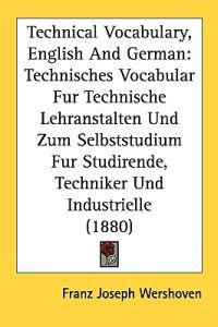 Technical Vocabulary, English and German