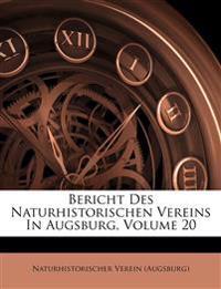 Bericht Des Naturhistorischen Vereins In Augsburg, Volume 20