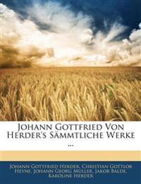 Johann Gottfried Von Herder's Sämmtliche Werke ... Zehnter Theil
