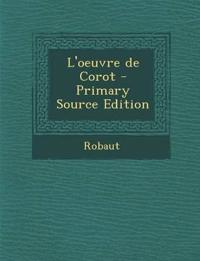 L'oeuvre de Corot