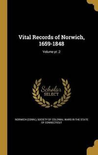 VITAL RECORDS OF NORWICH 1659-