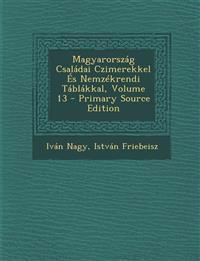 Magyarország Családai Czimerekkel És Nemzékrendi Táblákkal, Volume 13