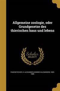 GER-ALLGEMEINE ZOOLOGIE ODER G