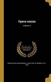 LAT-OPERA OMNIA VOLUMEN 3