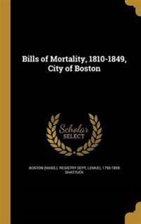 BILLS OF MORTALITY 1810-1849 C