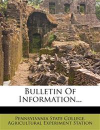 Bulletin Of Information...