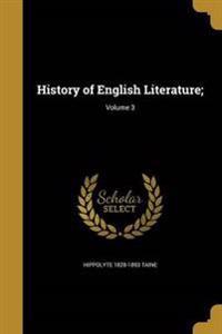 HIST OF ENGLISH LITERATURE V03