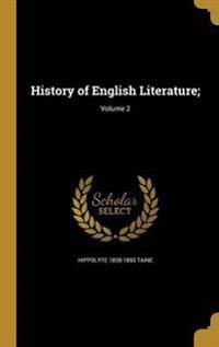 HIST OF ENGLISH LITERATURE V02