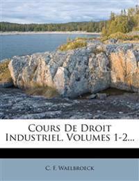 Cours de Droit Industriel, Volumes 1-2...