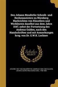 GER-DES JOHANN NEUDORFER SCHRE