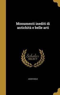 ITA-MONUMENTI INEDITI DI ANTIC