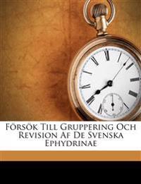 Försök till Gruppering och Revision af de Svenska Ephydrinae