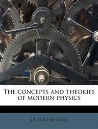 The concepts and theories of modern physics