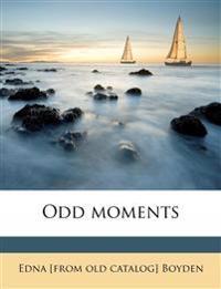 Odd moments