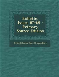 Bulletin, Issues 87-89 - Primary Source Edition