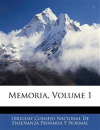 Memoria, Volume 1