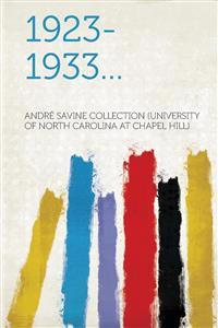 1923-1933...
