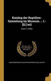 GER-KATALOG DER REPTILIEN-SAMM