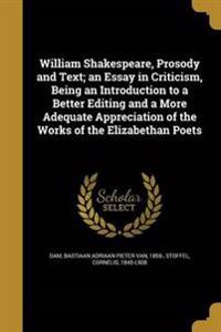 WILLIAM SHAKESPEARE PROSODY &