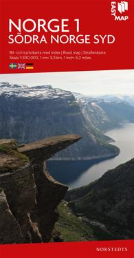 Södra Norge syd EasyMap : Skala 1:330.000