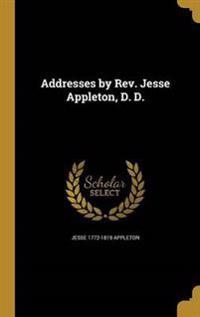ADDRESSES BY REV JESSE APPLETO
