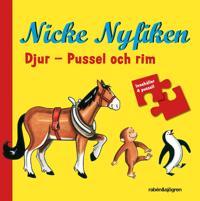 Nicke Nyfiken - Djur : Pussel och rim