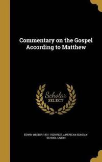 COMMENTARY ON THE GOSPEL ACCOR