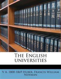 The English universities Volume 2, pt.2