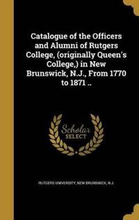 CATALOGUE OF THE OFFICERS & AL