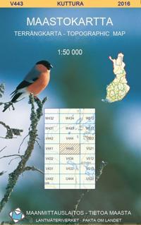 Maastokartta V443 Kuttura 1:50 000
