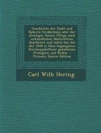 Geschichte der Stadt und Ephorie Großenhain oder der einstigen Hainer Pflege nach urkundlichen Nachrichten bearbeitet und nebst den bei der 1848 in Ha
