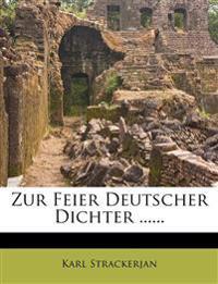 Zur Feier Deutscher Dichter ......