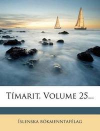Tímarit, Volume 25...