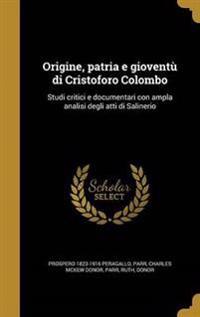 ITA-ORIGINE PATRIA E GIOVENTU