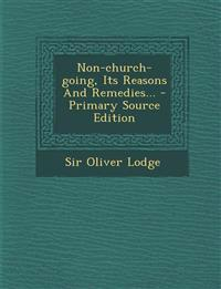 Non-church-going, Its Reasons And Remedies...
