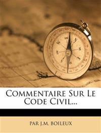 Commentaire Sur Le Code Civil...