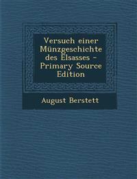 Versuch einer Münzgeschichte des Elsasses - Primary Source Edition