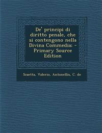 De' principi di diritto penale, che si contengono nella Divina Commedia;