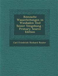 Römische Wasserleitungen in Wiesbaden Und Seiner Umgebung