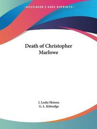 Death of Christopher Marlowe 1925