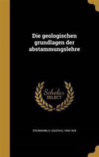 GER-GEOLOGISCHEN GRUNDLAGEN DE